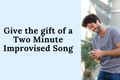 Gesture: Personalized Improv Song (2 Verses)